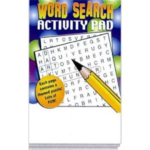 Word Search Activity Pad Fun Pack With A 4-pack Of Crayons In Imprinted Box