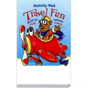 Travel Fun Activity Pad Fun Pack With A 4-pack Of Unimprinted Crayons