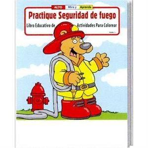 Practice Fire Safety Spanish Coloring And Activity Book Fun Pack