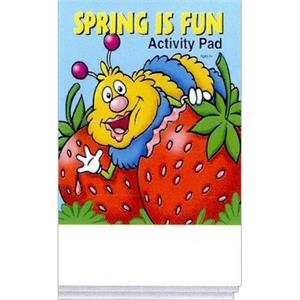Spring Is Fun Activity Pad Fun Pack With A 4-pack Of Unimprinted Crayons