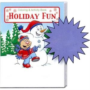 Holiday Fun Coloring And Activity Book Fun Pack With Crayons In Imprinted Box