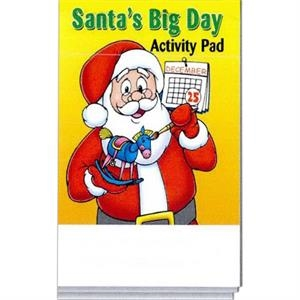 Santa's Big Day Activity Pad Fun Pack With A 4-pack Of Unimprinted Crayons