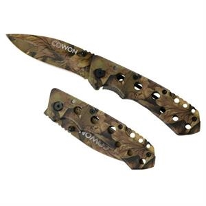 Tool Zone (tm) Bushmaster - Camouflage Folder Knife