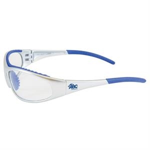 Flashfire - Clear Lens/blue And White Trim - Lightweight, Sporty Design Safety/recreational Glasses