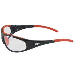 Flashfire - Clear Lens/black And Red Trim - Lightweight, Sporty Design Safety/recreational Glasses