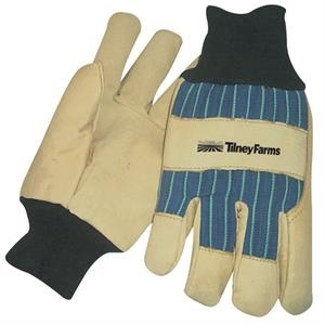 Thinsulate (r) - Lined Pigskin Leather Palm Glove With Blue Stripes