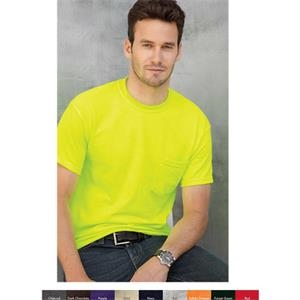 Gildan (r) - Neutrals S- X L - Adult T-shirt With A Pocket Of 6.0 Oz Preshrunk 100% Cotton. Blank Product