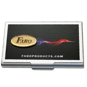 "Faro - 2"" - Imprinted Card Caddy With Added Emblem"