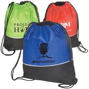 Non Woven Textured String Backpack, 80 Gsm