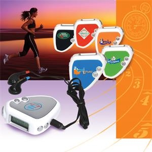 Audio Jogger - Pedometer And Fm Scan Radio Includes Earbuds