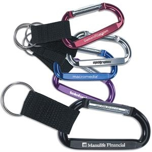 Clip-and-go - Carabiner Key Holder With Nylon Split Ring Attachment