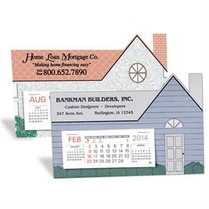 "The Estate - Monthly Desk Calendar With House Shape And Design, 6 3/4"" X 4 3/8"""