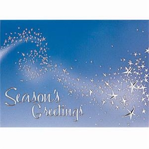"Magical Wisp Of Stars - Classic - Holiday Greeting Card 5"" X 7"" In Size With Stock Design"