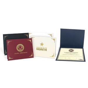 Classic - Certificate Folder Made Of 20 Pt. Embossed Paper Board