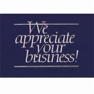 "We Appreciate Your Business! - Everyday Thank You Note Card, 3 1/2"" X 5"""