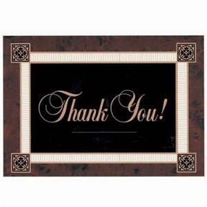 "Thank You! - Dark Background With White Border - Everyday Thank You Note Card, 3 1/2"" X 5"""
