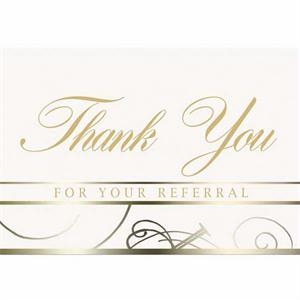 "White Everyday Note Card With ""thank You"" Scripted In The C"