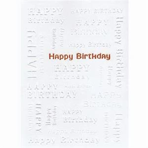 Happy Birthday - Everyday Birthday Greeting Card With Stock Sentiment Inside