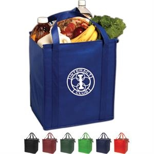 Insulated Large Non-woven Grocery Tote Constructed Of Non-woven Polypropylene