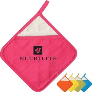 Ad-holder (tm) - Cotton Pot Holder With Terry Cloth Liner Construction
