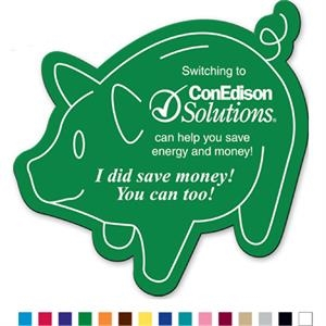 Piggy Bank - Flexible Magnet With Pig Shape. Made In The Usa