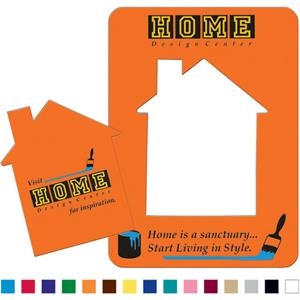 House Shaped Photo Magnet With Removable Center