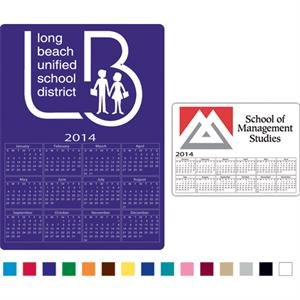 Rectangle Shaped Calendar Magnet