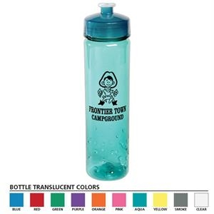 Polysure (tm) - 24 Oz Bottle With Euro Body And Bubble Design On Bottom