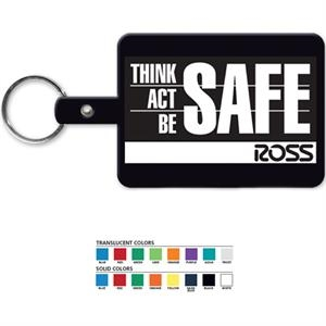 Large Rectangle - Rectangular Key Tag With Split Ring