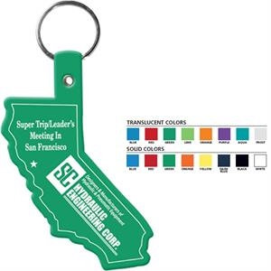 California Shaped Key Tag