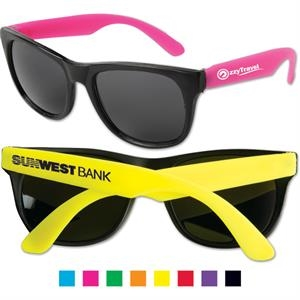 Sunglasses With Ultraviolet Protective Lenses And Black Frames