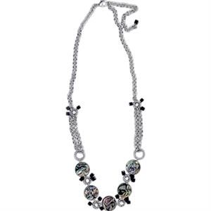 Eevah Jacoline - With Personal Tag - Pearl Beads Accented With Agate Beads. Necklac