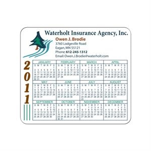 "Full Color Process - White Flexible Rectangle Shape Calendar Magnet With Rounded Corners, 3 1/2"" X 4"""