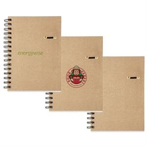 Hard Cover Cardboard Journal Notebook With Spiral Binding & 160 Ivory Lined Pages