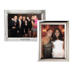 "Metal Photo Frame Fits A 5"" X 7"" Photograph Either Portrait Or Landscape Position"