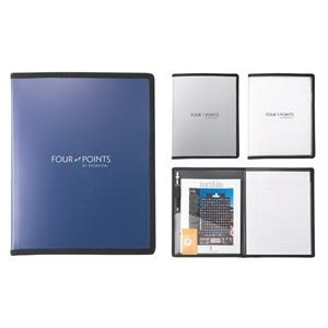 Polypro - Polypropylene Padfolio With Card Slot, Paper Pocket, And Reinforced Black Trim