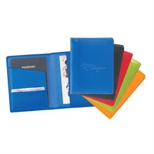 Colorplay - Leather Travel Wallet With 2 Interior Pockets And An Interior Card Slot