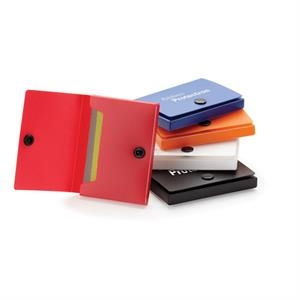 Polypropylene Business Card Case With Black Snap Button Closure