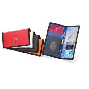Polypropylene Passport Organizer With Reinforced Black Fabric Trim