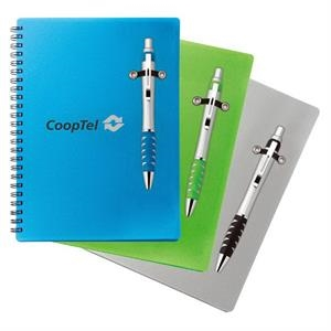 Lightning - Combo Includes Notebook With Double Spiral Binding And Ballpoint Plastic Pen