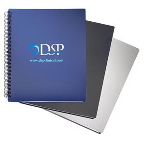 Polypropylene Notebook With 80 Lined Sheets And Double Spiral Binding