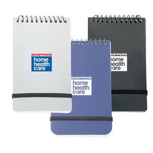 "Polypropylene 3"" X 5"" Memo Book With An Elastic Closure And 60 White Lined Sheets"