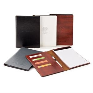 Fabrizio - Vinyl Padfolio With 7 Interior Card Slots, 2 Interior Document Slots & Notepad