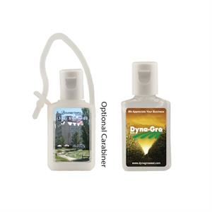 Hand Sanitizer Heros - 1/2 Oz. Flat Hand Sanitizer Bottle With Carabiner. Antibacterial Hand Sanitizer