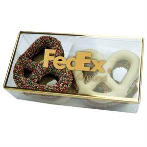 Golden Favorites Pretzel Box with Chocolate Covered Pretzels