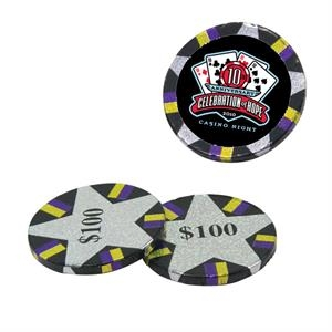 Chocolate Dude - Chocolate Poker Chips. Chocolate Poker Chips Candy With 4 Color Process Decal