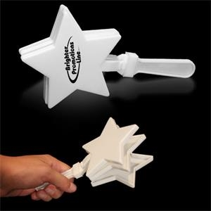 "White 7"" Star Shaped Hand Clapper"