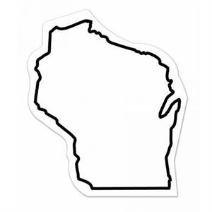 30 Mil - Magnet - Wisconsin. Digital 4 Color Process Print; Stock 20 Mil; 30 & 50 Mil