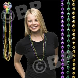 Disco Style Round Beaded Necklace, Blank