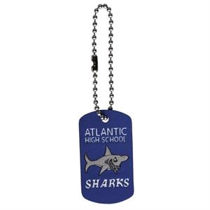 "Elite - Dog Tag With Ball Chain, Up To 1"" X 1.75"" With 4"" Chain"